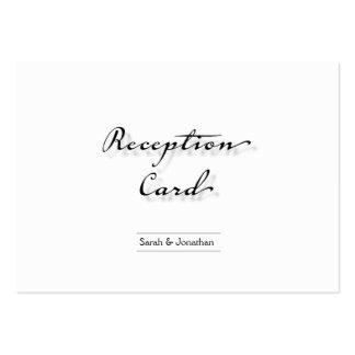 Wedding Reception Card Simple Crisp Clean Business Card Templates