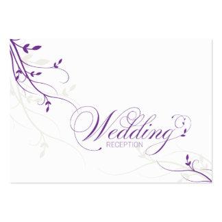 Wedding Reception Card Simple Elegance Leafy Vine Business Card Template
