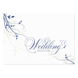 Wedding Reception Card Simple Elegance Leafy Vine Business Card