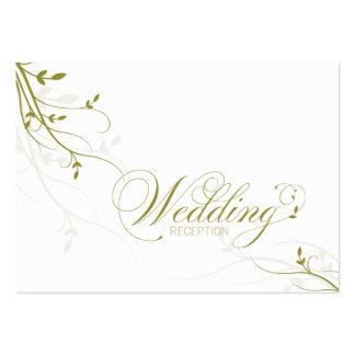 Wedding Reception Card Simple Elegance Leafy Vine Business Card Templates