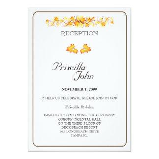 Wedding Reception, Fall Leaves Theme 2 Card