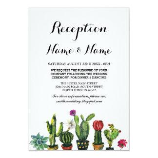 Wedding Reception Fiesta Cactus Mexican Inserts Card