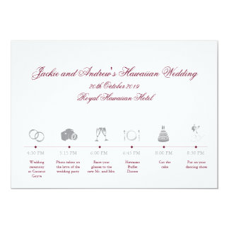 Wedding Reception Itinerary Timeline Card
