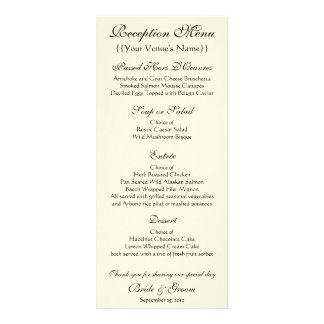 Wedding Reception Menu; The Kiss by Gustav Klimt Customized Rack Card