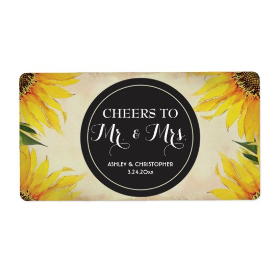 Wedding Reception Mini Champagne Label Favour Shipping Label