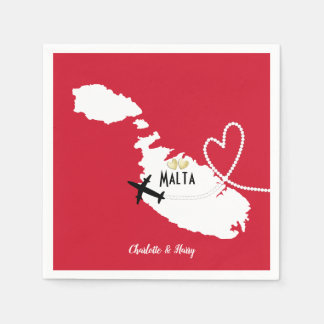 Wedding Reception Party Married In Malta Paper Napkins