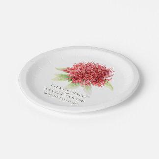 Wedding red waratah custom paper plate