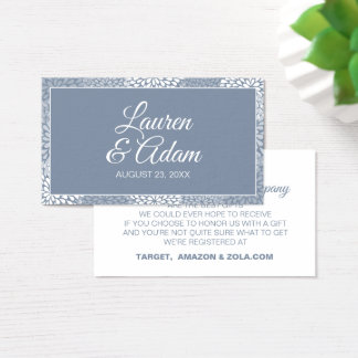 Wedding Registry Cards - Chrysanthemum- Dusty Blue