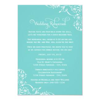 Wedding Rehearsal and Dinner Invitations   Aqua
