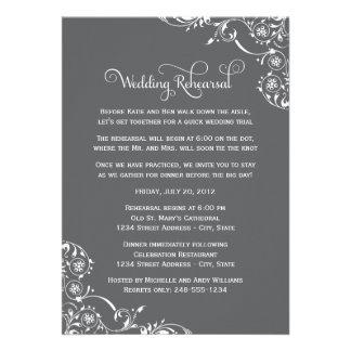 Wedding Rehearsal and Dinner Invitations | Gray Card
