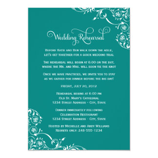 Wedding Rehearsal and Dinner Invitations | Green