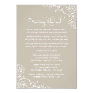Wedding Rehearsal and Dinner Invitations | Neutral