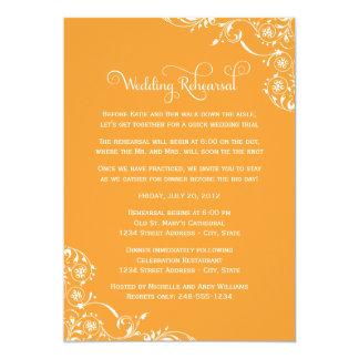 Wedding Rehearsal and Dinner Invitations   Orange