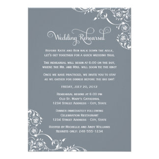 Wedding Rehearsal and Dinner Invitations Slate Cards