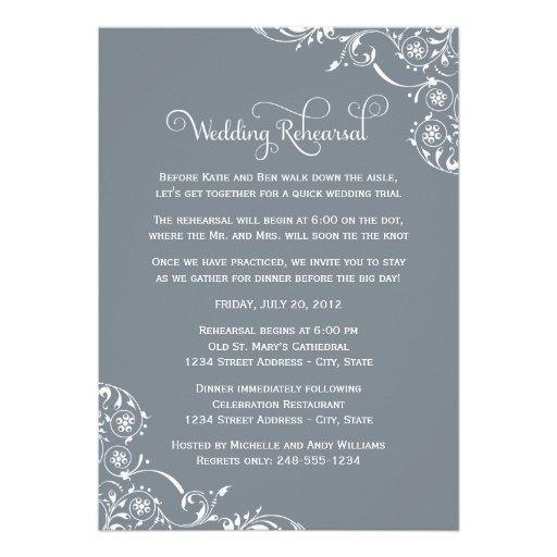 Wedding Rehearsal and Dinner Invitations | Slate Cards