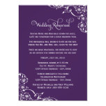 "Wedding Rehearsal | Dark Purple Scroll 5"" X 7"" Invitation Card"
