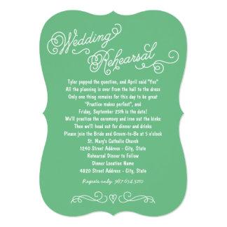"Wedding Rehearsal Dinner   Practice Makes Perfect 5"" X 7"" Invitation Card"