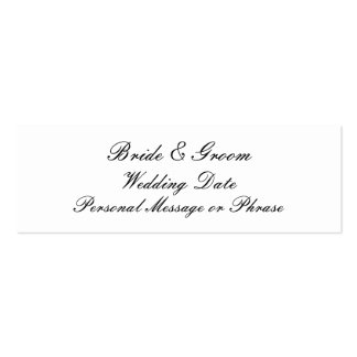 Wedding Reminder Insert for Invitations Pack Of Skinny Business Cards