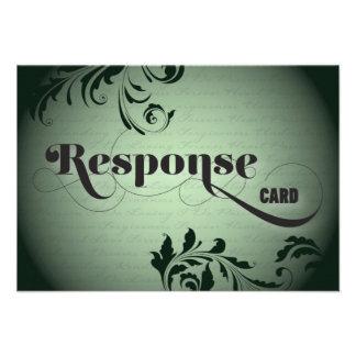 Wedding Response RSVP Card Bold Script Font