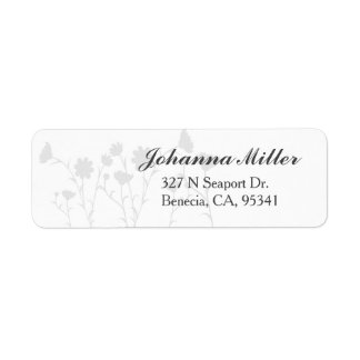 Wedding Return Address Label - Chic - Modern