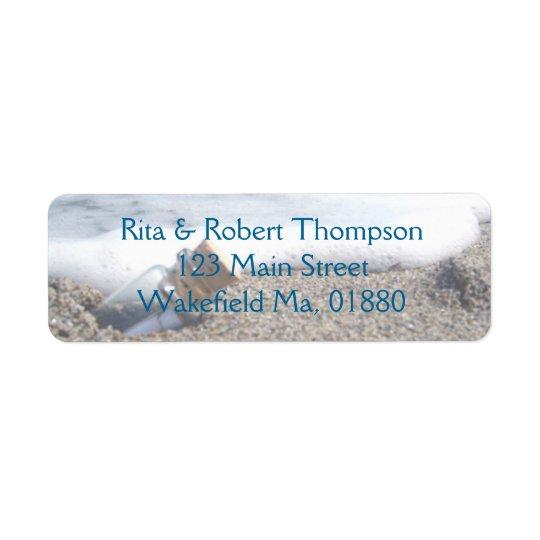 Wedding Return Address Labels - Message Bottle