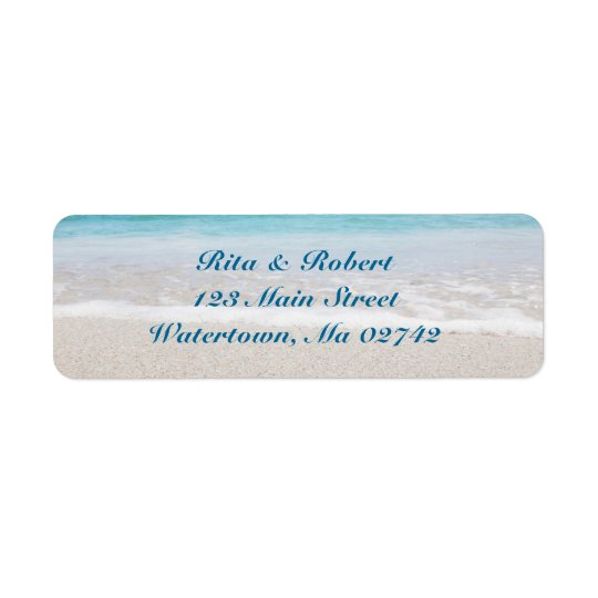 Wedding Return Address Labels - Ocean I