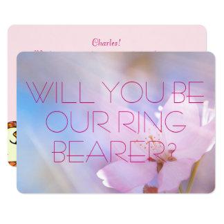 Wedding Ring Bearer Invitation card