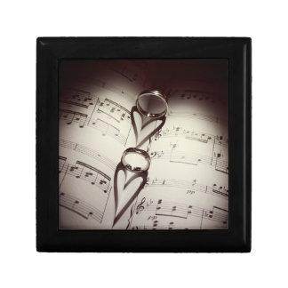 Wedding Ring Hearts Music Gift Box