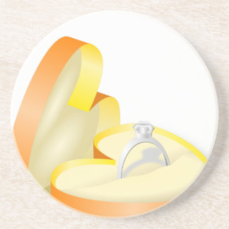 Wedding Ring in a Box Coaster