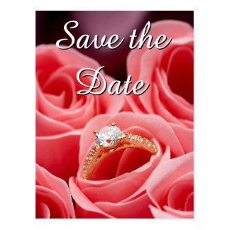 Wedding Ring Save the Date Postcards