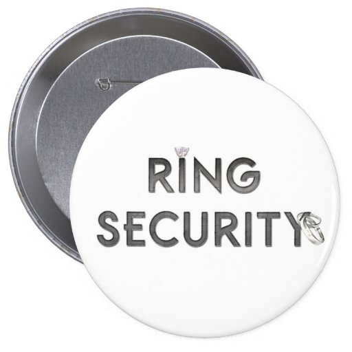 """Wedding """"RING SECURITY"""" Pins"""