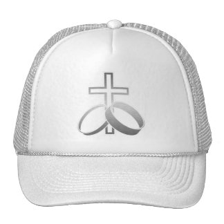 Wedding Rings and Cross Art Hat