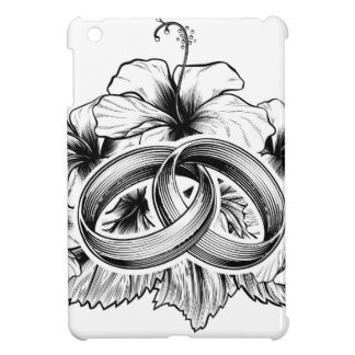 Wedding Rings and Hibiscus Flowers Cover For The iPad Mini
