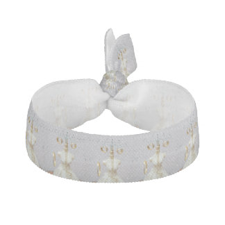 Wedding rings and jewelry hair tie