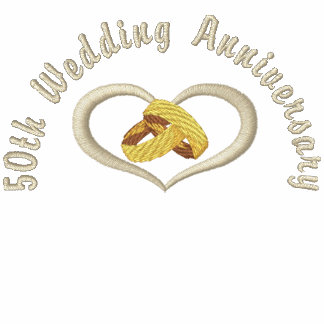 Wedding Rings Heart - 50th Anniversary