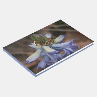 Wedding Rings Hyacinth Flower Guest Book