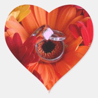 Wedding Rings in Mum Heart Envelope Seal
