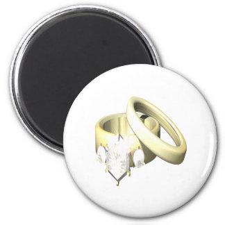 Wedding Rings Fridge Magnet