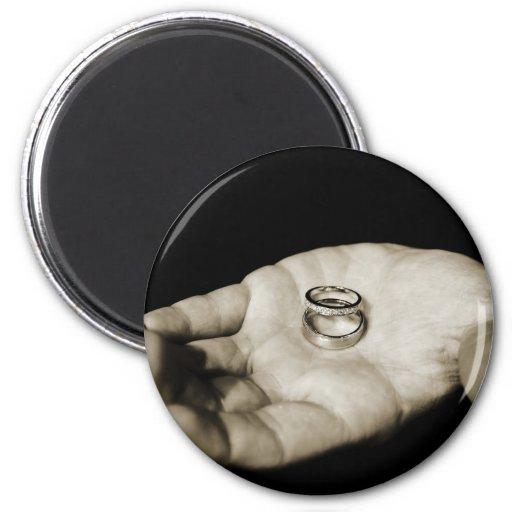 Wedding Rings Refrigerator Magnet