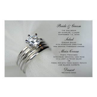 Wedding Rings Menu Stationery Paper