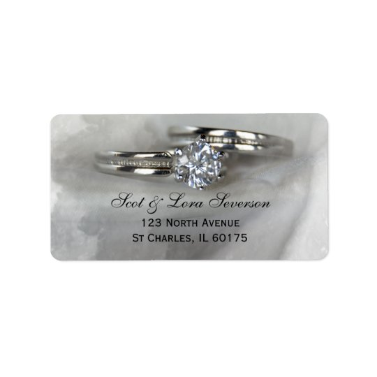 Wedding Rings on Grey Address Labels