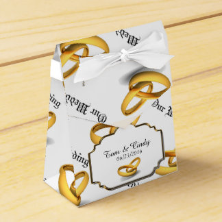 Wedding Rings Party Favor Box
