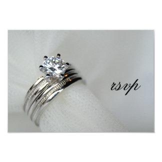 Wedding Rings RSVP Response Card