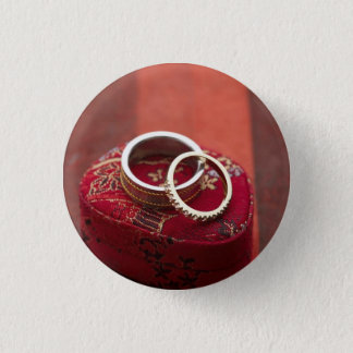 Wedding Rings Storage Box 1 Inch Round Button