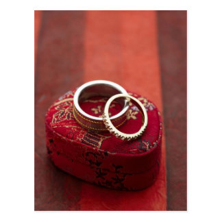 Wedding Rings Storage Box Postcard