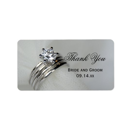 Wedding Rings Thank You Favour Tag