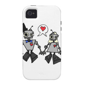 Wedding robots iPhone 4 cover