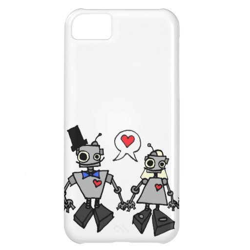 Wedding robots cover for iPhone 5C