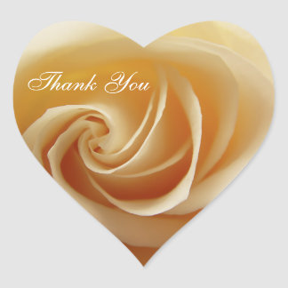 Wedding Rose Thank You Stickers