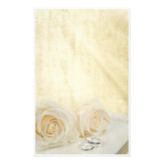 Wedding Roses Personalized Stationery